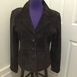 Neiman Marcus Exclusive Suede Leather Jacket. Sz12